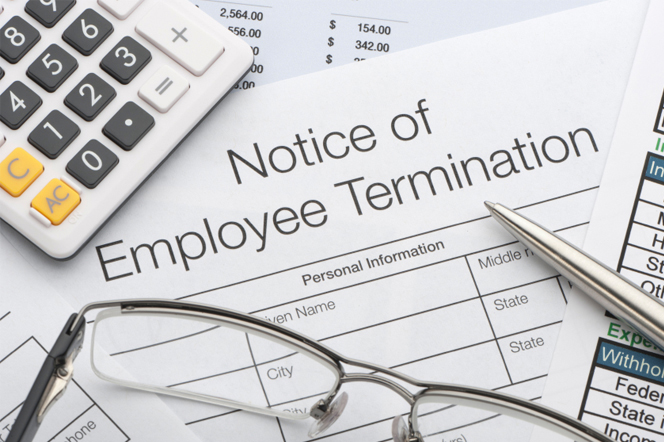 Employment Termination Notice Involving Allegation of Frustration of Employment Contract Due to Health of Employee